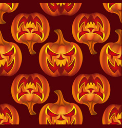 seamless pattern with pumkins on background vector image