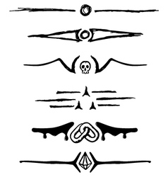 Set ornaments for dividing paragraphs vector