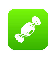 small candy icon digital green vector image
