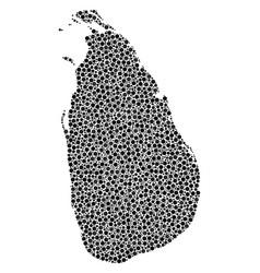 sri lanka island map mosaic of small circles vector image