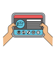 technology device cartoon vector image