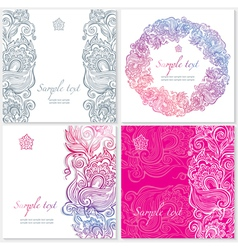 template with floral ornament vector image