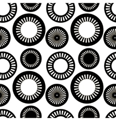 the pattern black and white circles vector image