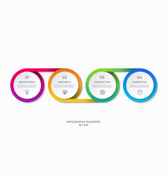 timeline infographics with 4 options vector image