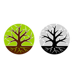 tree emblem 24 vector image