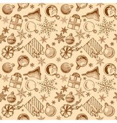 Vintage Christmas background seamless tiling vector