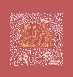 vinyl record concept color vector image