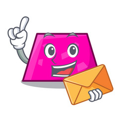 With envelope trapezoid character cartoon style vector