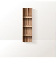 Wood shelf font design alphabet letter vector