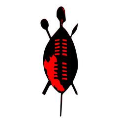 Zulu shield vector
