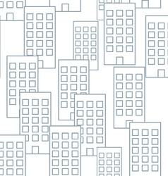 Building seamless pattern seamless background vector image