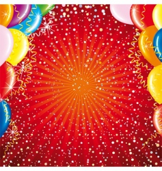 celebrating card vector image
