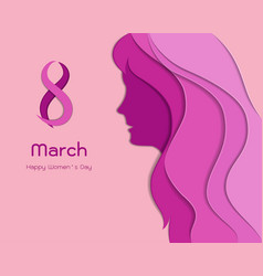 concept of international womens day or mothers vector image vector image