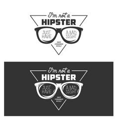 i am not a hipster t-shirt design vintage vector image