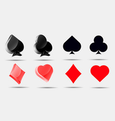 playing card symbols set pokers collection vector image