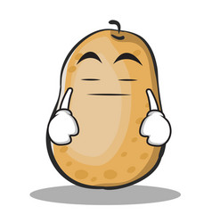 boring potato character cartoon style vector image vector image