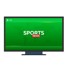 Mass media sports news breaking news banner vector