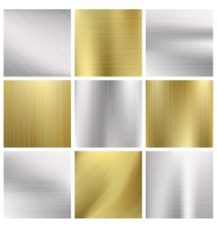 Metal textures set vector image