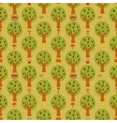 Seamless background with forest vector image vector image