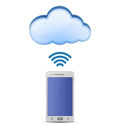 Smart phone and cloud network vector image