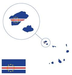Cape Verde Flag vector image vector image