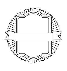 figure emblem squard border with ribbon icon vector image