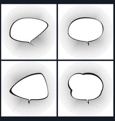 set of retro style speech bubble vector image