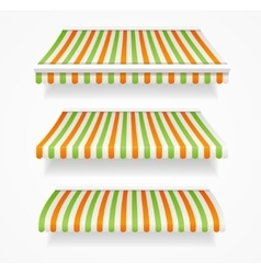Striped Colorful Awnings Set vector image
