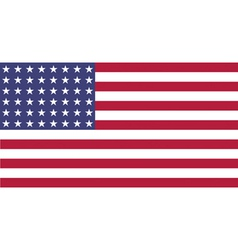 US Flag WWI WWII 48 stars Flat vector image vector image