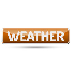 weather - abstract beautiful button with text vector image vector image