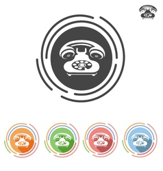 dial phone icon vector image