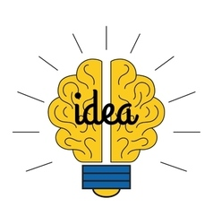 Idea lamp icon vector image vector image