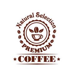 premium coffee shop or cafeteria icon vector image