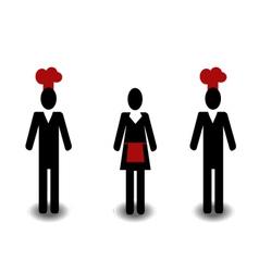 Restaurant people vector image