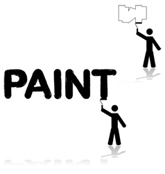 Wall painter vector image vector image