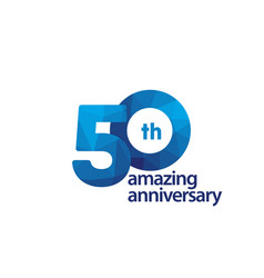 50 years amazing anniversary celebration template vector
