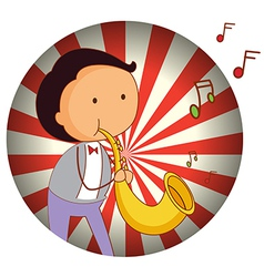 A man playing with the trombone vector image