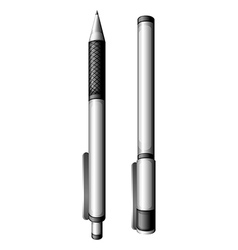 A topview of the two ballpens vector