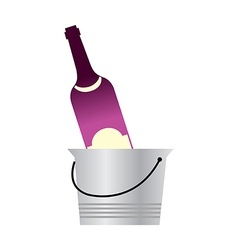 A wine in the bucket vector