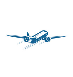 airplane flying symbol airline journey icon vector image