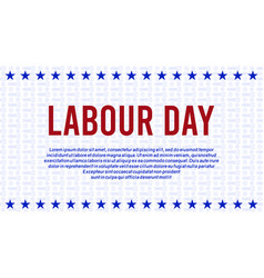 American or usa labour days banner with wrench vector