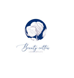 beauty cotton logo template vector image