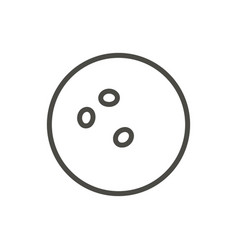 bowling ball icon line fun game symbol vector image