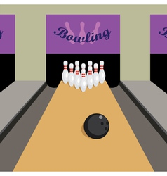Bowling game vector