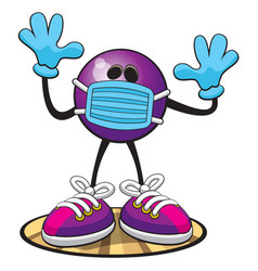 bowling masked virus vector image