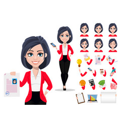 Business woman manager banker vector