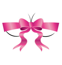 Bust with pink bow vector