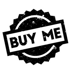 Buy me rubber stamp vector