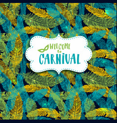 carnival background seamless patern with hand vector image