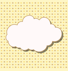 cartoon white cloud with shadow on yellow vector image